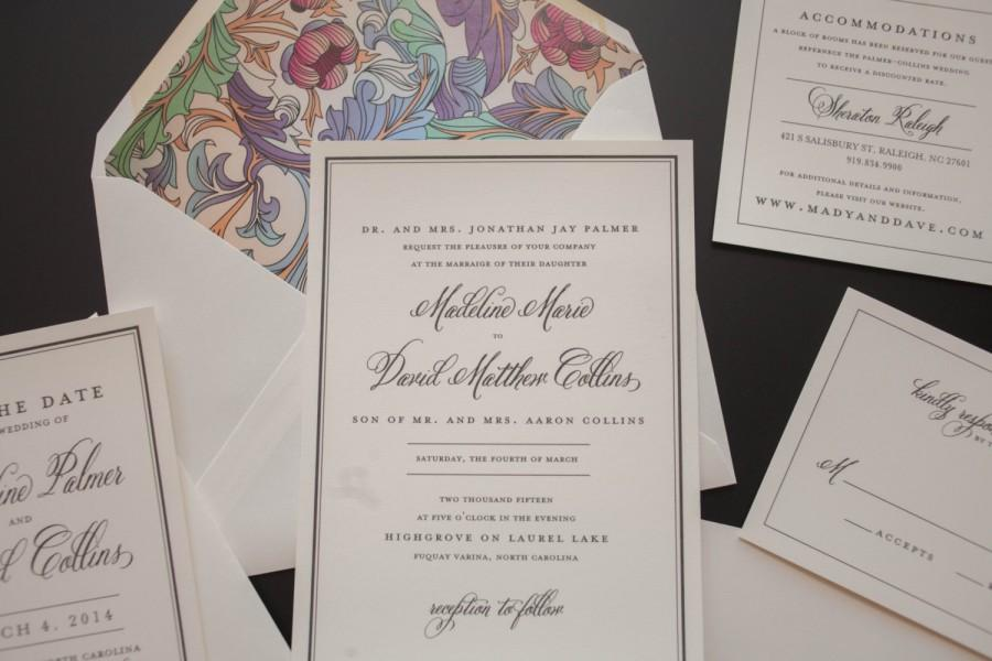 Traditional Elegant Wedding Invitations: Classic Wedding Invitation, Traditional Wedding Invitation