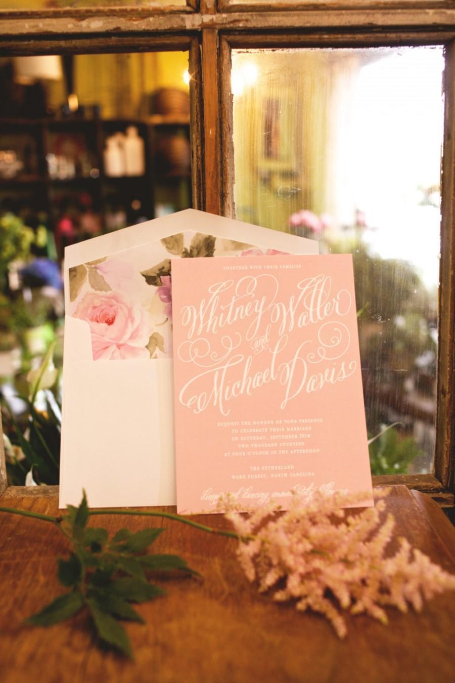 Hochzeit - Garden Wedding Invitation, Blush Wedding Invitation, Elegant Wedding Invitation, Classic Wedding Invitation, Modern Wedding Invitation