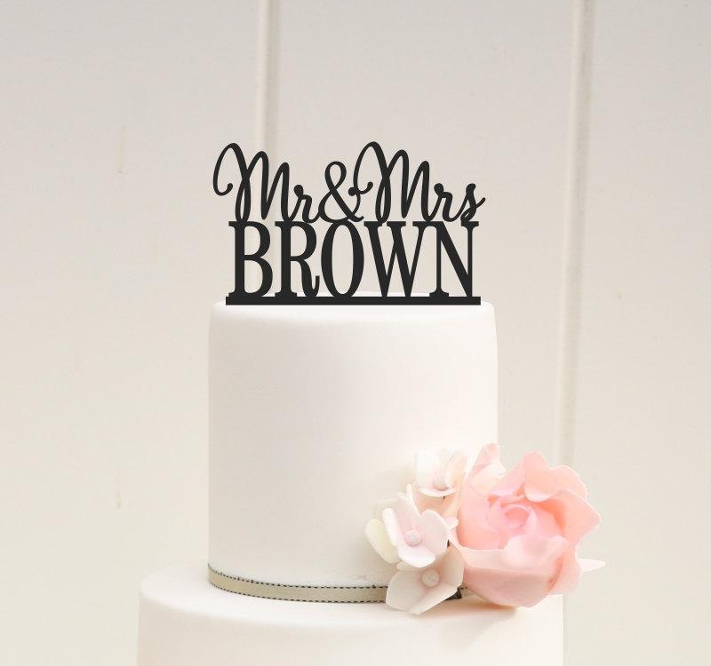 Mariage - Personalized Wedding Cake Topper - Custom Mr and Mr Design