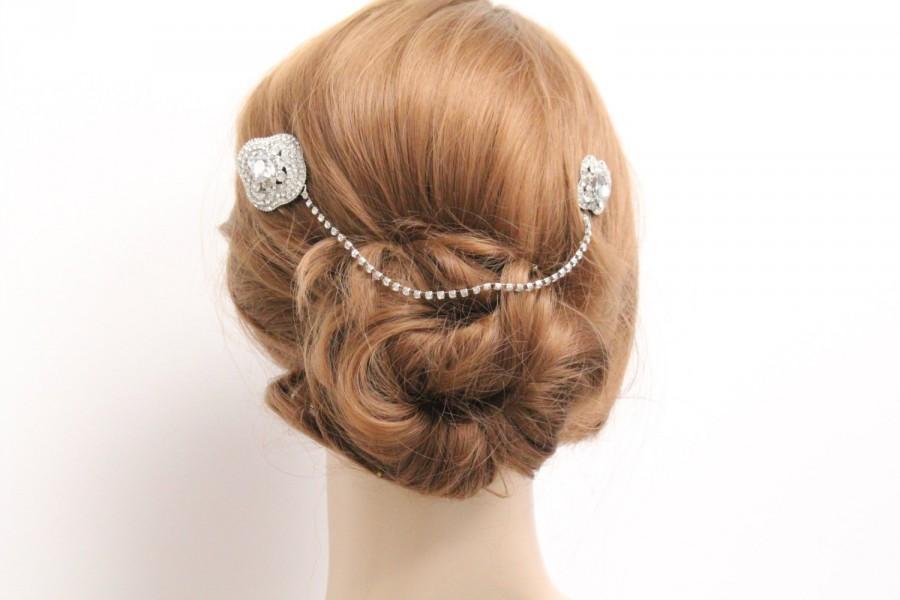 Свадьба - Wedding hair chain bridal hair chain wedding hair comb bridal hair jewelry wedding headpiece bridal hair comb wedding jewelry bridal comb