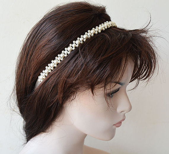 Hochzeit - Wedding Hair Accessories, Bridal Pearl Headband, Pearl Headband Wedding, Head piece Wedding, Hair Accessories, Hair Jewelry