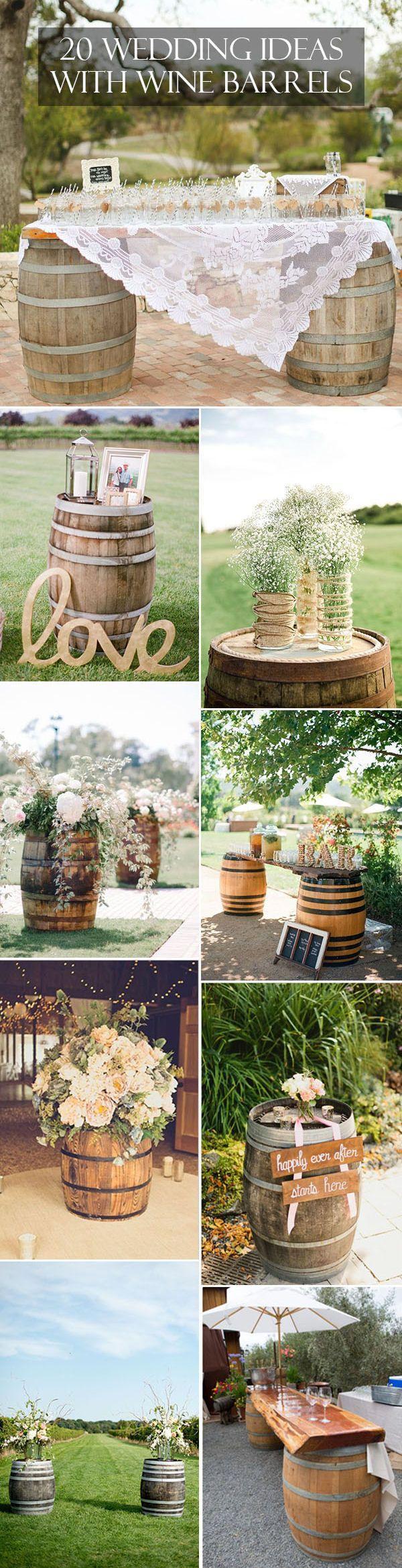 Свадьба - Country Wedding Ideas: 20 Ways To Use Wine Barrels