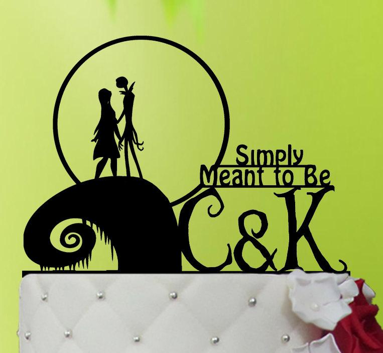 Wedding Cake Topper - Jack And Sally Cake Topper-The Nightmare ...