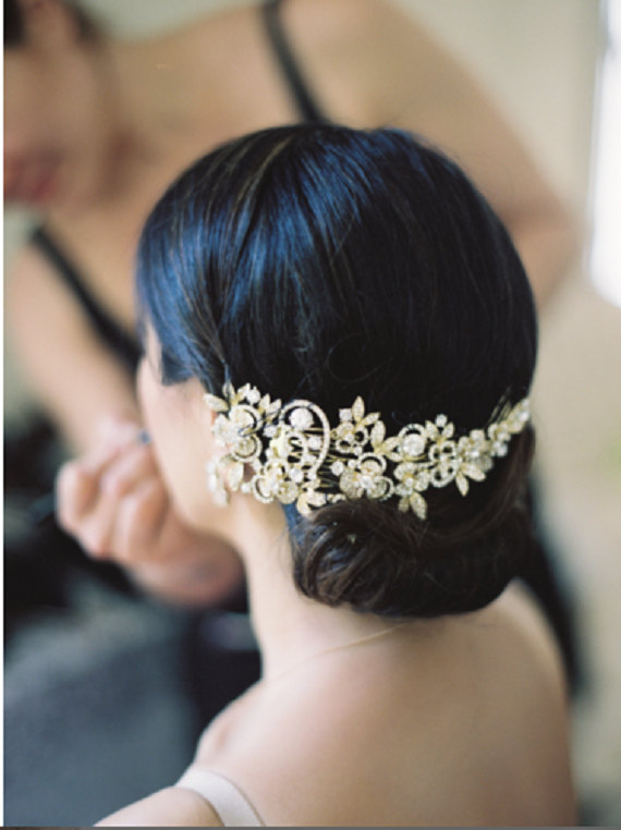 Свадьба - Bridal Hair Comb, Wedding Comb, Gold or Silver Rhinestone Headpiece, Rhinestone Hair Jewelry, Wedding Hair Accessory, Wedding Headpiece, Cb2