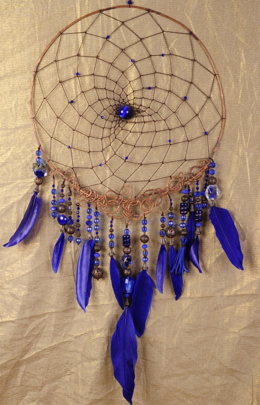 Dream catcher royal blue dreamcatcher copper dream atcher dream catcher royal blue dreamcatcher copper dream atcher dreamcatchers boho dreamcatchers wall decor handmade decoration idea gift idea amipublicfo Images