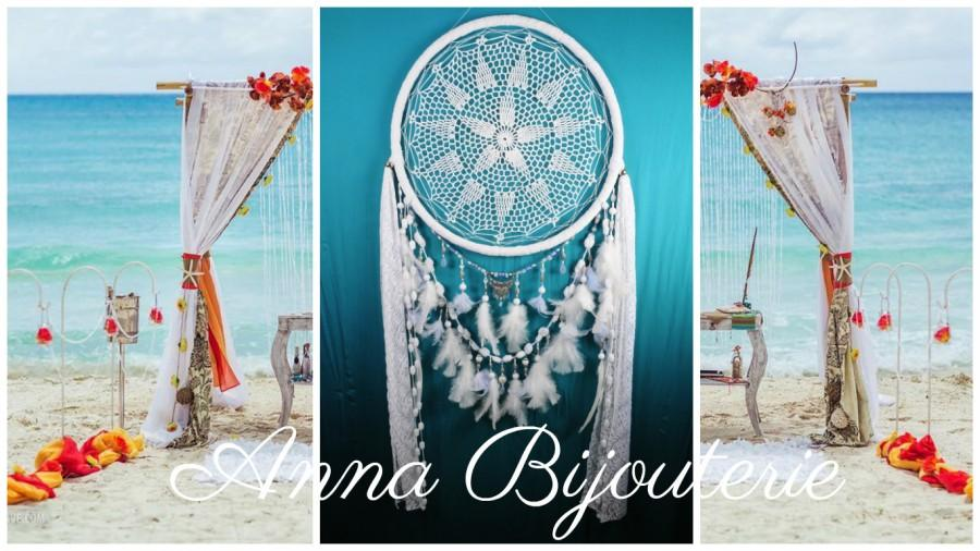 Boda - Decor Dreamcatcher Big Wedding Сrescent Dream Catcher Large Dreamcatcher Dream сatcher dreamcatchers boho dreamcatchers wall decor handmade