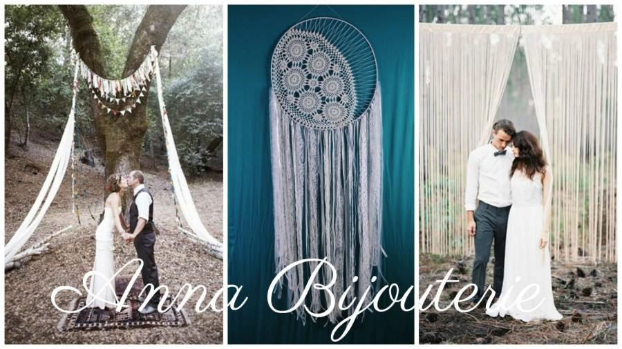 Big Wedding Dreamcatcher Wedding Large Giant Moon Lace Oversized Awesome Large Dream Catchers For Sale