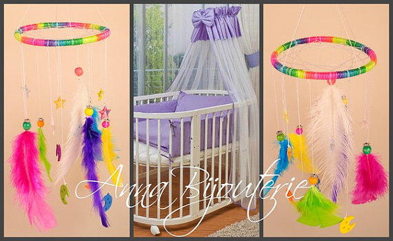 Boda - Original Mobile baby room boys girls white baby bed Nursery Mobile newborn baby cute nice gentle dreamcatcher lace handmade exclusive gift