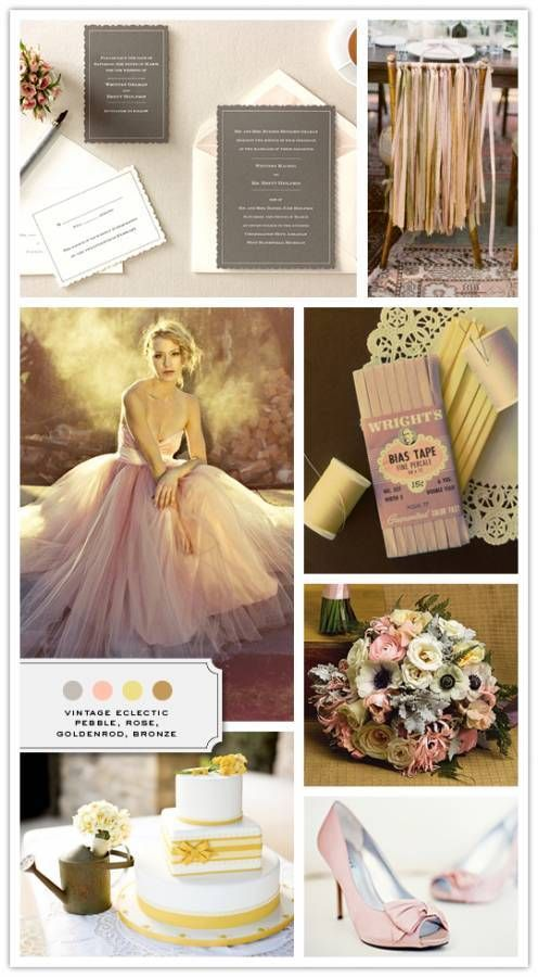 Wedding - Inspiration Board: Vintage Eclectic - Inspired Bride