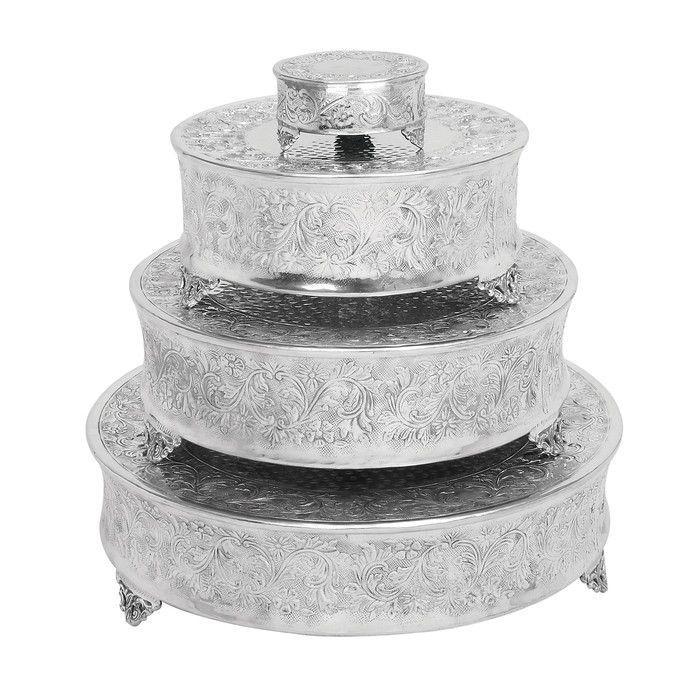 Hochzeit - Aspire 4 Piece Round Cake Stands Set