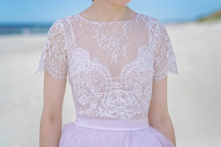 serenity lace bridal blouse bridal blouse bridal lace top blush bridal top bridal. Black Bedroom Furniture Sets. Home Design Ideas