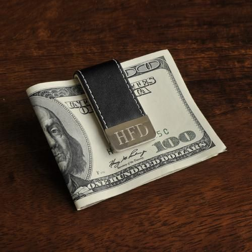 Mariage - Personalized Gentry Leather Money Clip
