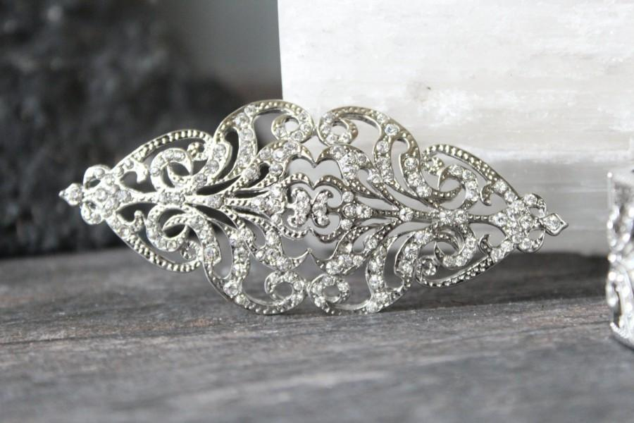 swarovski crystal scroll brooch swarovski crystal wedding