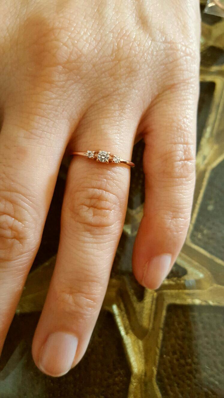 Свадьба - Rose Gold Ring-Rose Gold Tria Ring-Tria Ring-Handmade Tria Ring