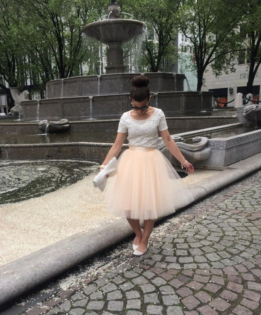 Hochzeit - Blush Tutu , Plus size skirt, Blush tulle skirt , Ladies tutu dress,Adult tutu, Adult tulle skirt ,engagement tutu, Bridesmaids tutu