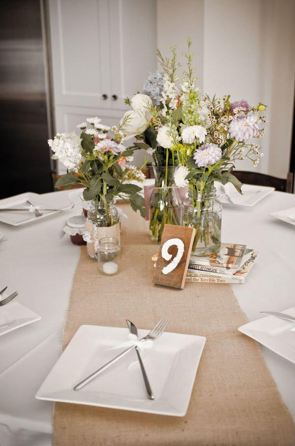 """Свадьба - 90"""" x 12"""" Inch Burlap Table Runners (Fit 5ft Round Tables)"""