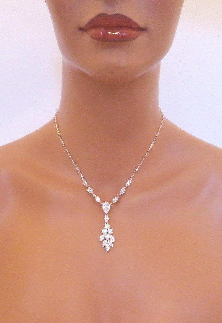 Bridal Rhinestone Necklace Vintage Inspired Necklace