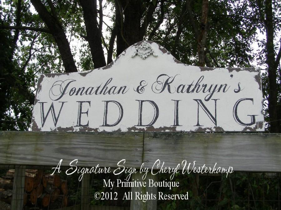 Custom Wedding Sign Gorgeous Shabby Chic Sign Vintage Inspired