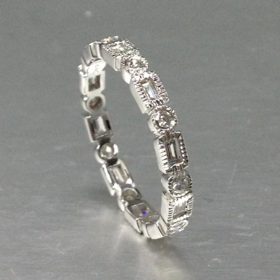large wedding vintage ireland ring bands of diamond art deco ebay engagement rings size