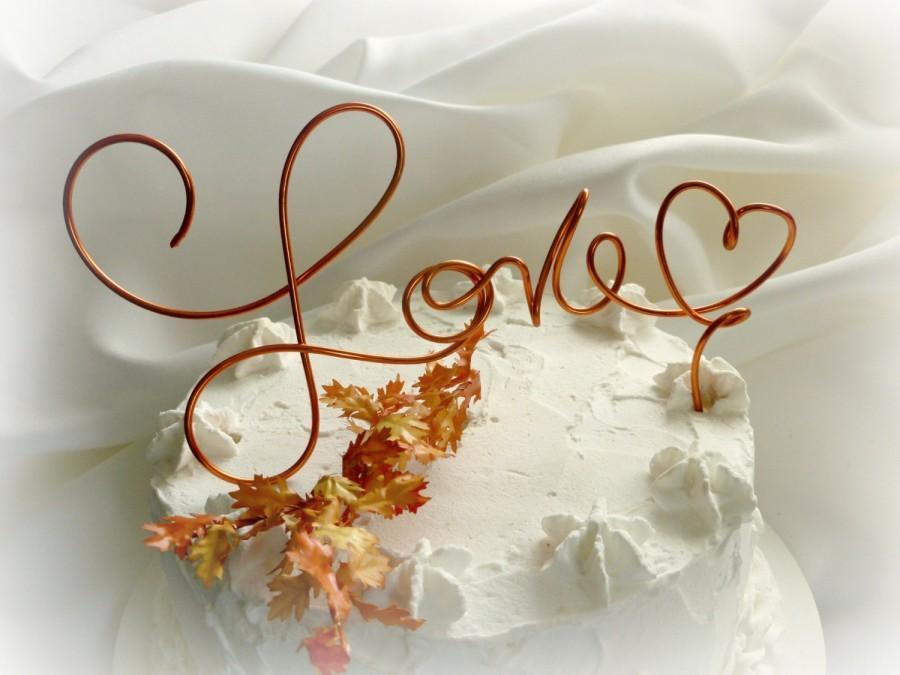 Свадьба - Fall Wedding Decor, Rustic Cake Topper,  Choose Your Size