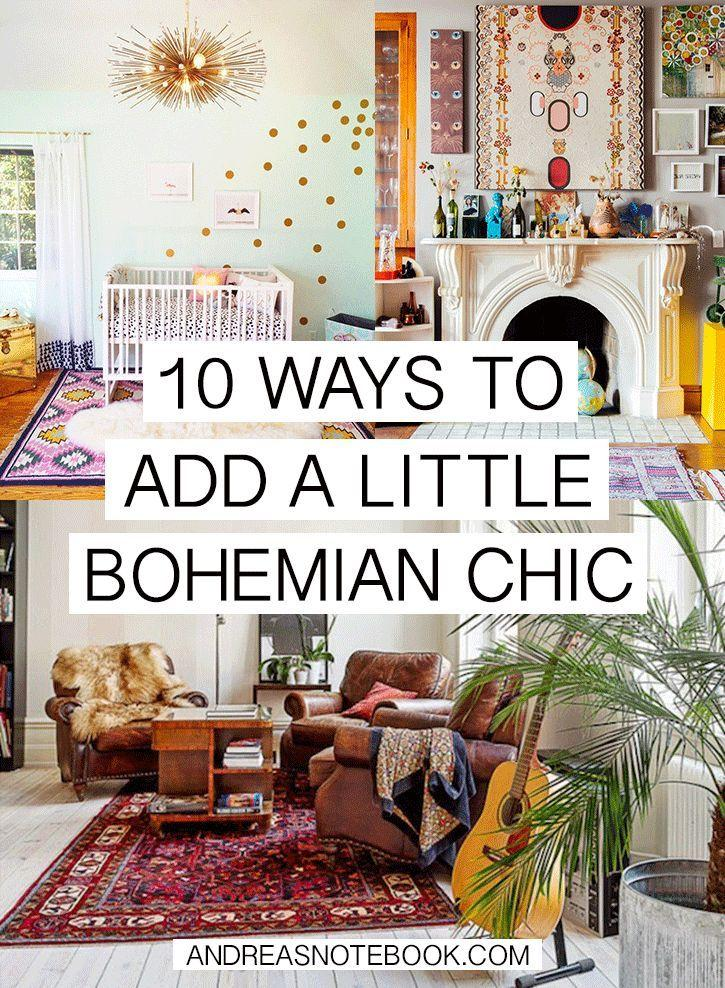 Mariage - How To Bohemian Chic Your Home In 10 Steps - Andrea's Notebook