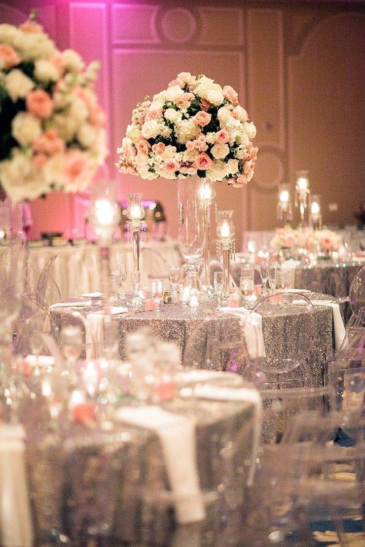 Wedding Theme Houston Wedding Silver And Pink Glamour 2566326