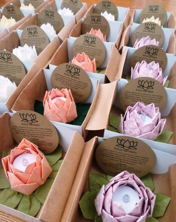 Amazon.com: origami lotus paper flower water lily: Handmade | 733x582