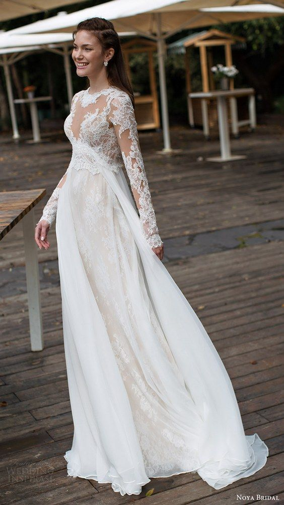 Mariage - 30 Long Sleeve Wedding Dresses For Fall/Winter Bride