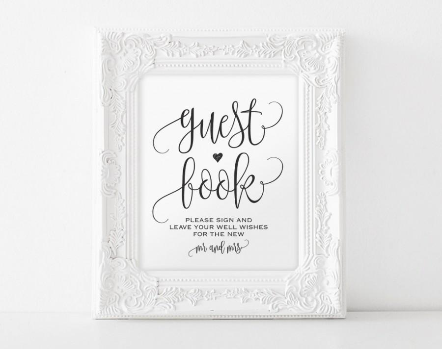 Guest Book Template | Guest Book Sign Please Sign Our Guest Book Guest Book Printable