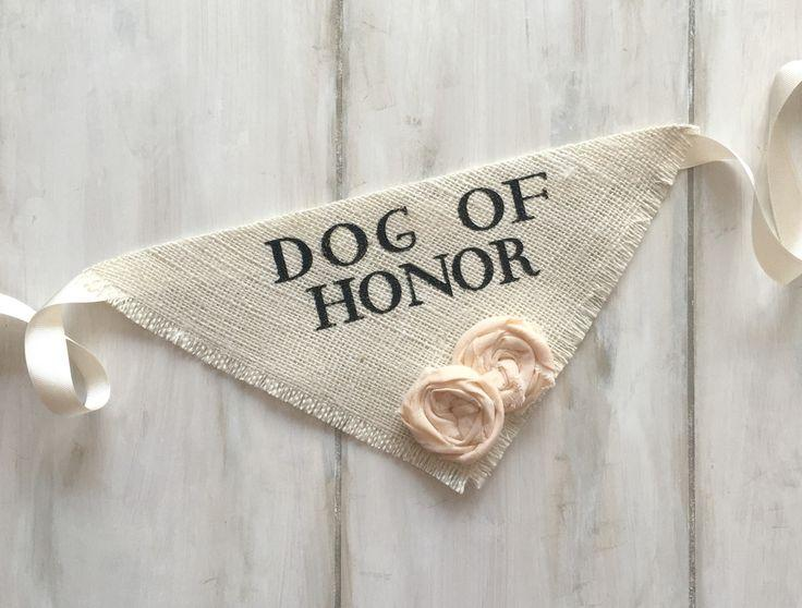 Boda - Dog Of Honor - Ivory Wedding Dog Bandana With Flowers