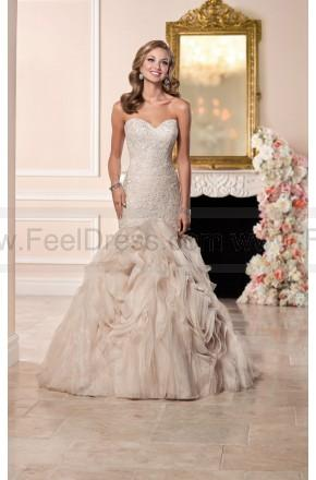 Wedding - Stella York Fit And Flare Wedding Dress With Textured Skirt Style 6285