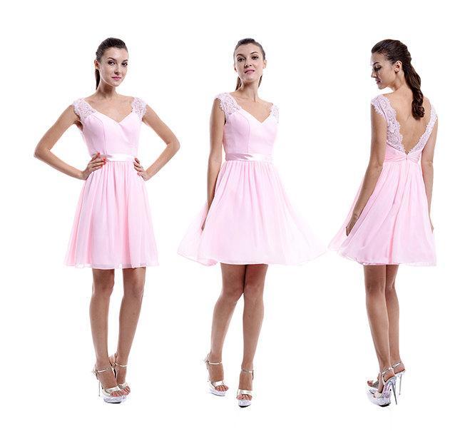 Pink Lace Bridesmaid Dress 3705a66c5