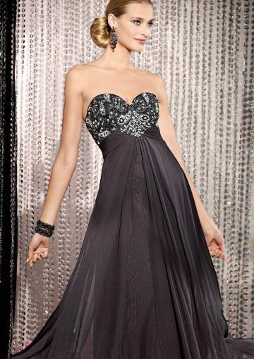 زفاف - Sweetheart Black Crystals Sleeveless Floor Length