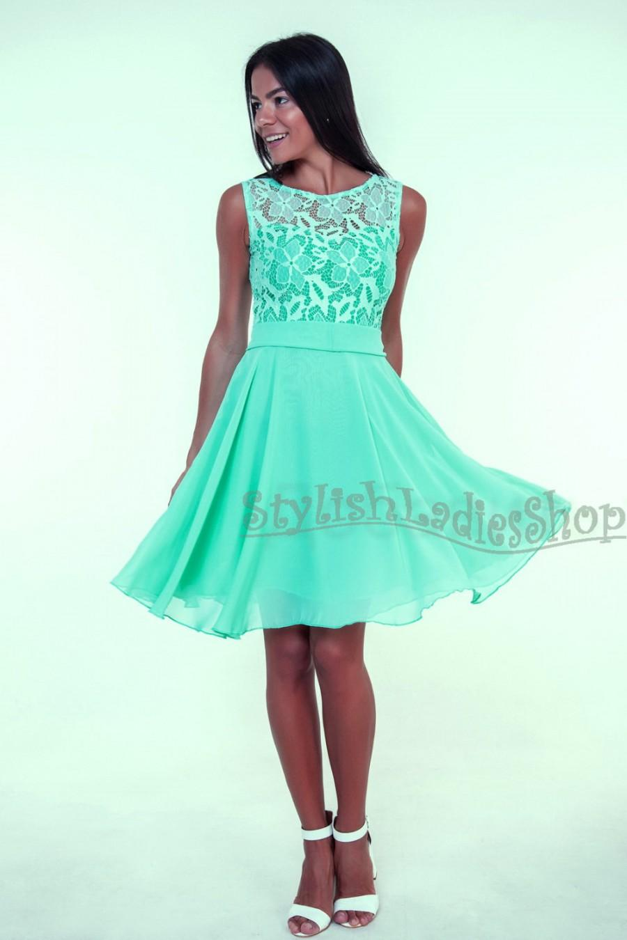 Mint Bridesmaid Dress Lace Wedding Bridesmaids Mint Lace Dress Mint ...