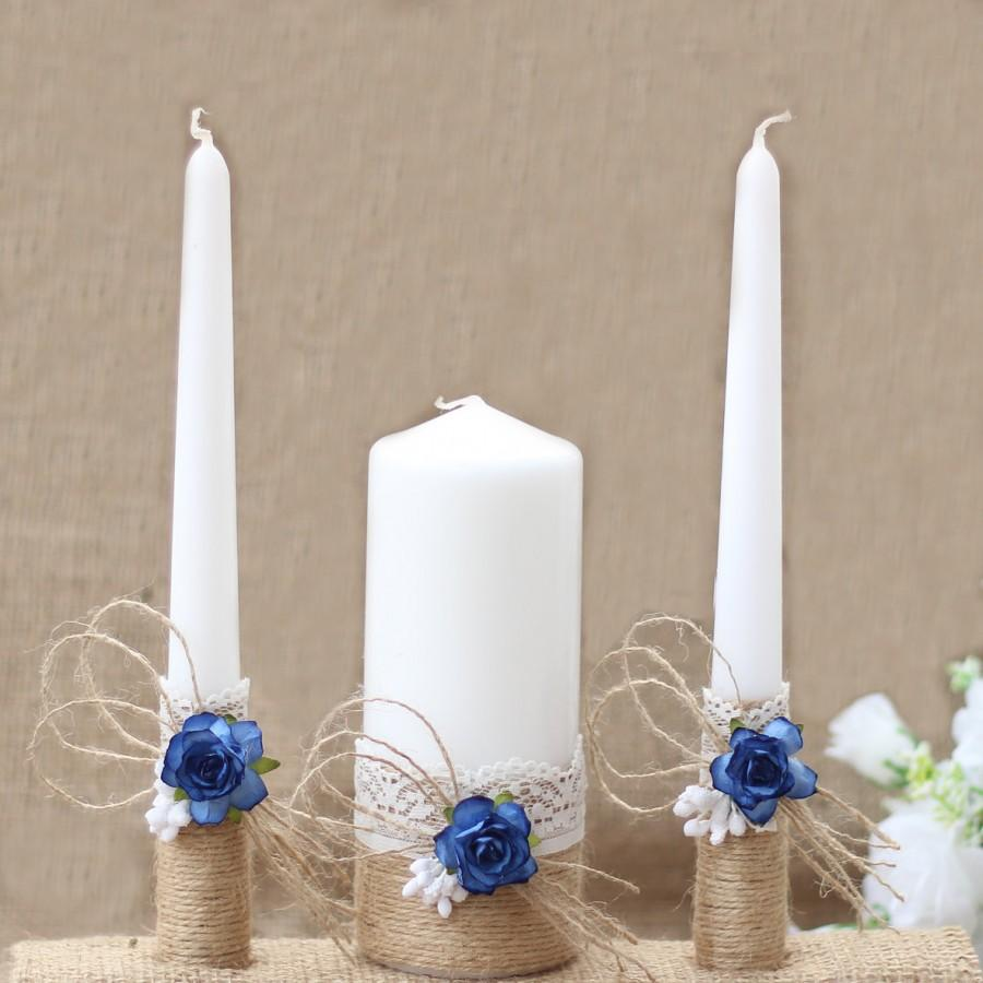 Wedding Unity Candle Set Rustic Candles Bride And Groom Ceremony