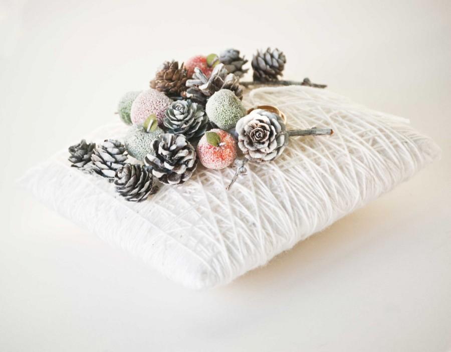 زفاف - Winter Wedding Ring Bearer Pillow - Winter Wedding Decor - Winter Ring Holder Pillow - Winter Wonderland Wedding Decoration