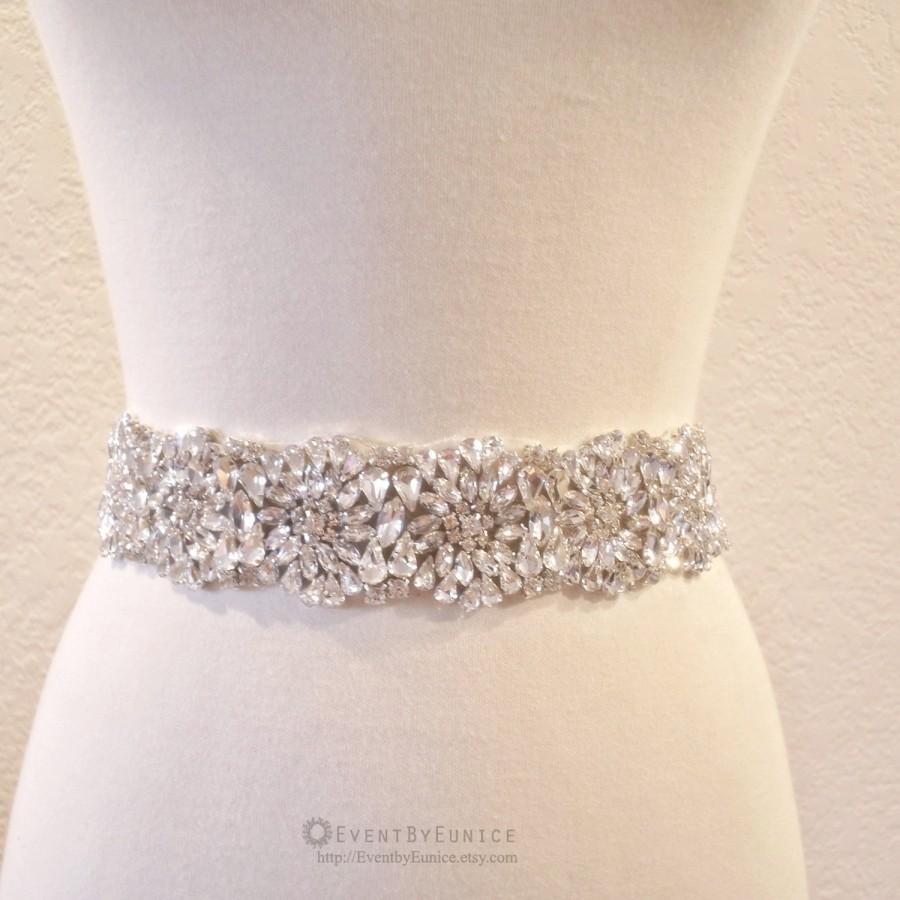 Wedding - Wedding Crystal Belt, Bridal Belt, Wedding Sash, Bridal Sash, Crystal belt, Crystal sash, Bridesmaid Belt,  PAPAYA