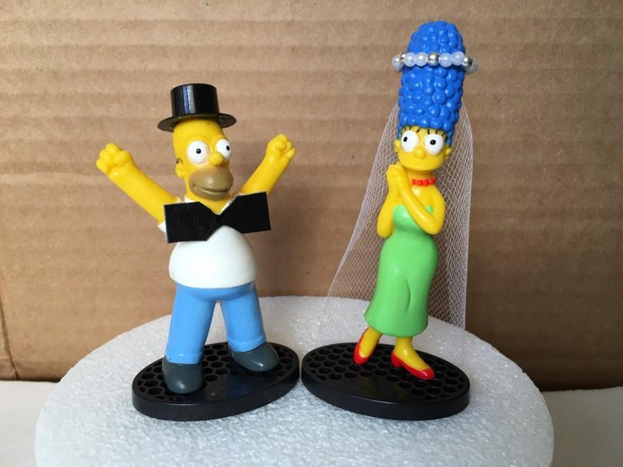 Mariage - The Simpsons Wedding Cake Topper