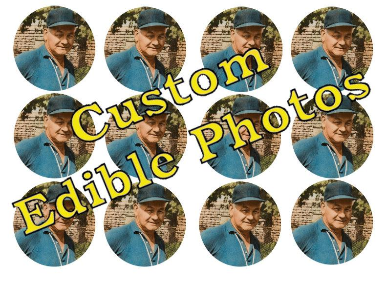 Wedding - Edible Custom Photos for Cakes, Cupcakes and Cookies - Wafer Paper or Frosting Sheet