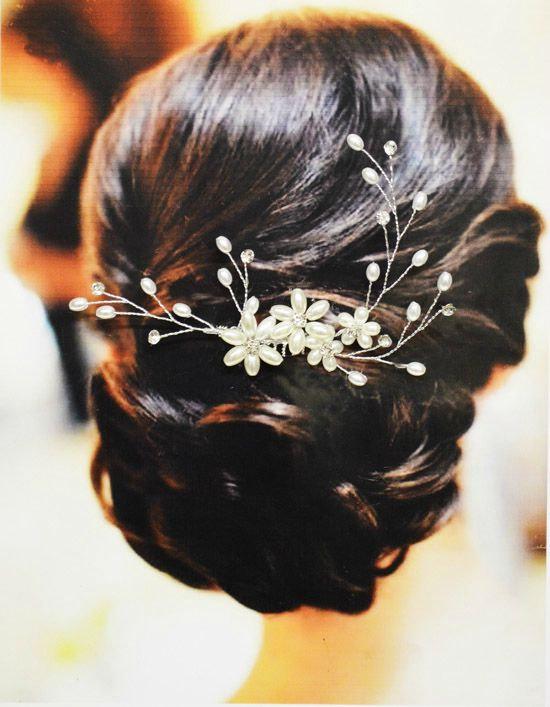 Mariage - Milan Bridal Hair Comb, Wedding Hair Comb, Pearl and Crystal Hair Comb, Wedding Hair Accessories, Floral Bridal Headpiece, Hair Piece