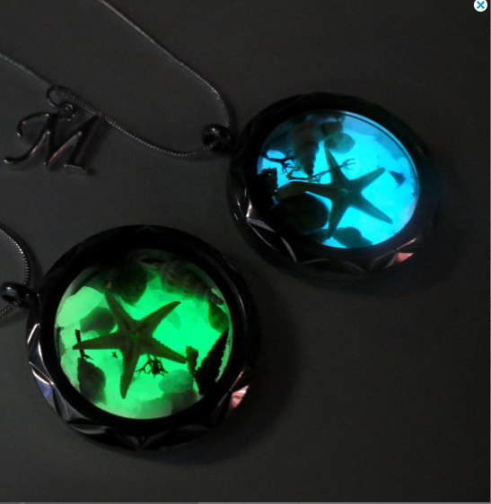 Wedding - Glow in the dark jewelry, glow dark jewelry, glowing necklace pendant,glow in the dark necklace, glowing jewelry, glowing necklace.