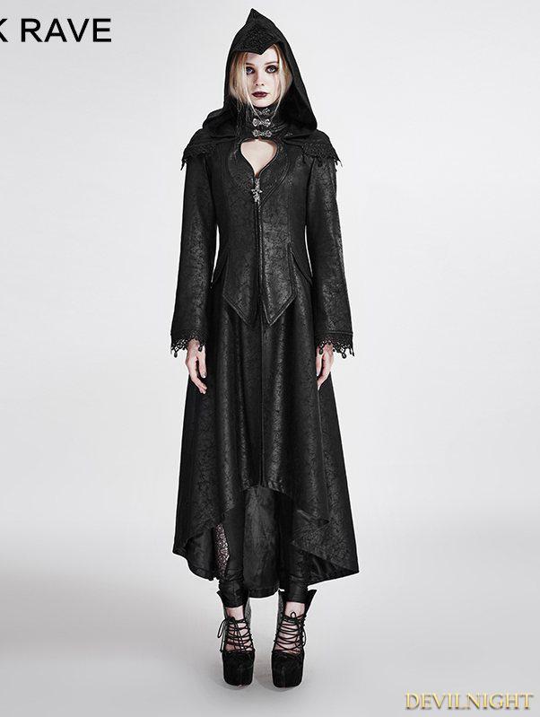 Hochzeit - Black Gothic Dark Angle Long Hooded Coat for Women