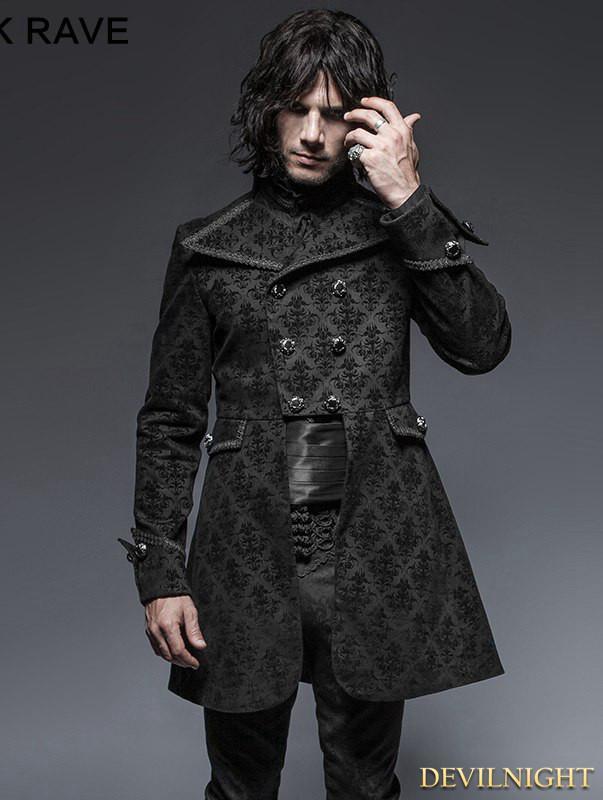 Свадьба - Black Gothic Script Box-Pleat Jacket for Men