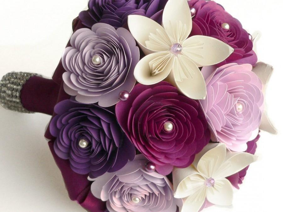 Bouquet Alternative Purple Wedding Sangria Lilac Paper