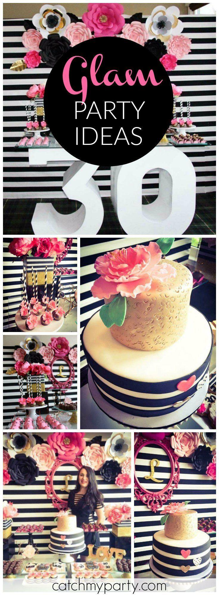 Black White Pink And A Little Golden Birthday My Awesome 30th Party