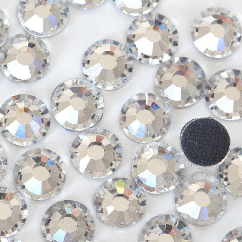 Mariage - HOTFIX  Rhinestone Packs , Clear glass hot-fix crystals