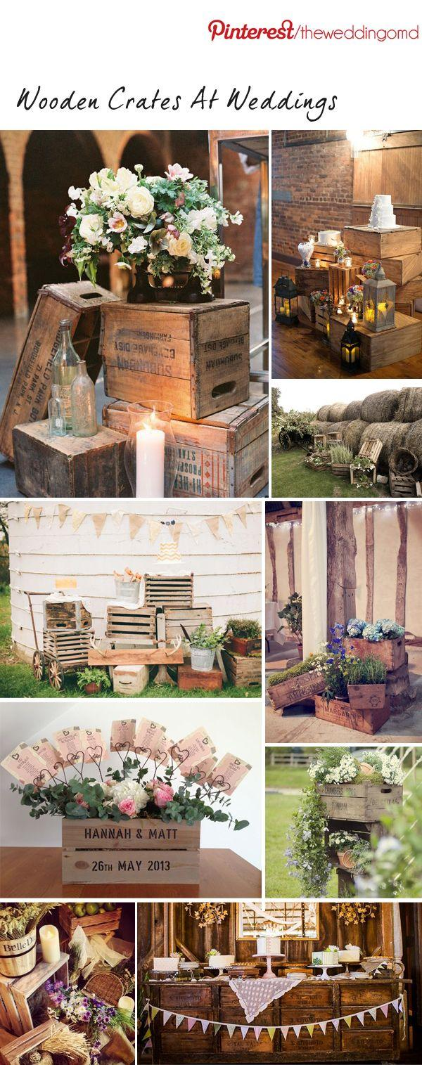exceptional wooden crate wedding decor