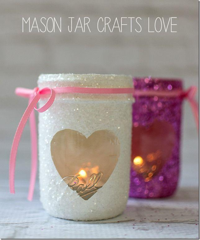 Wedding - Valentine Glitter Votives
