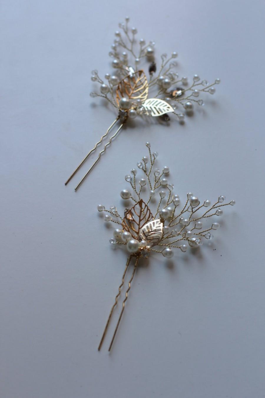 Mariage - Bridal Hair Pins Bridal Hairpins Wedding Hair Pins Wedding Hairpins Set of Two