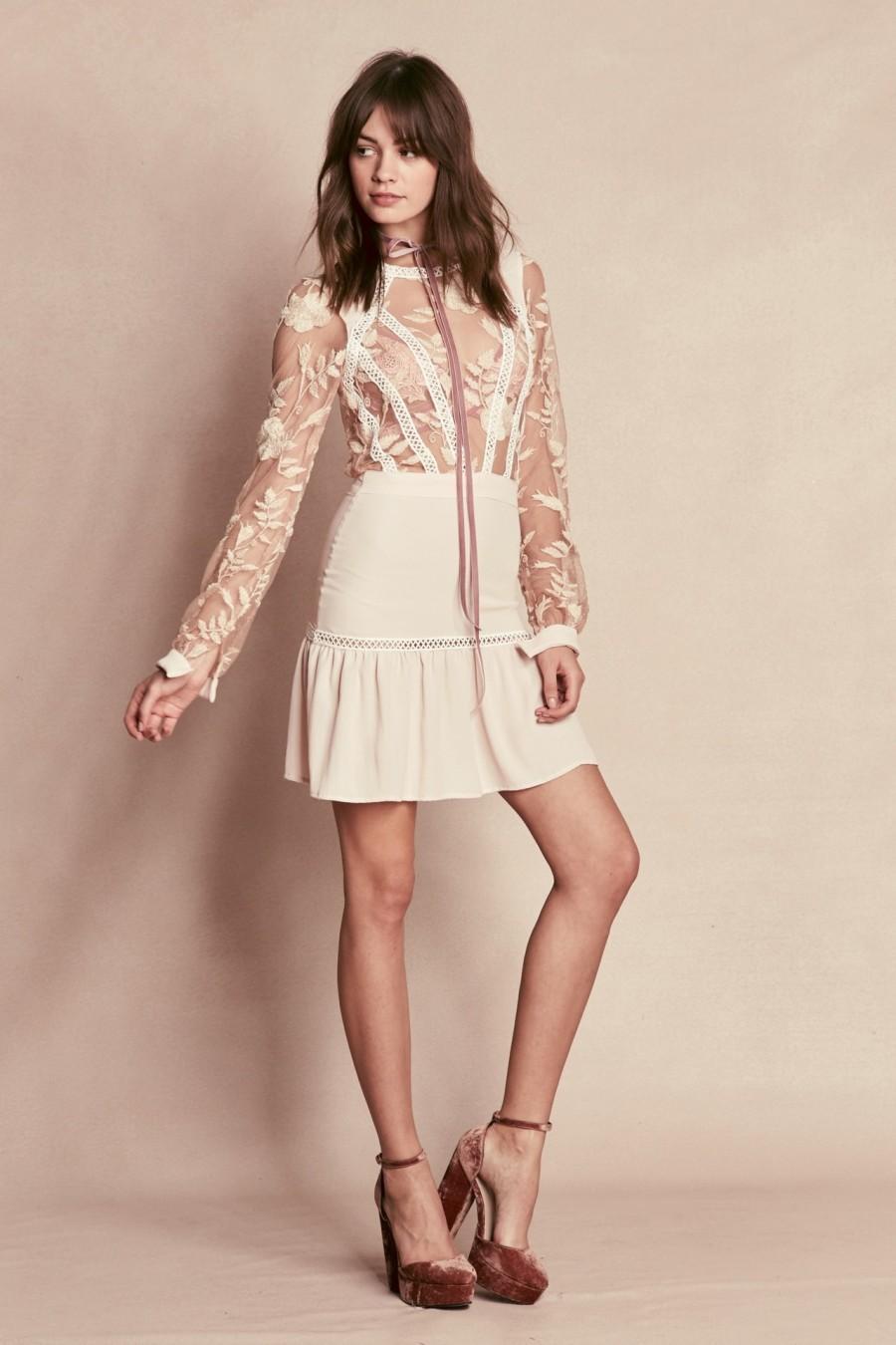 For Love Lemons Emelia Embroidered Mini Dress 198 00 Lovelacedress For The One Who Loves Lace Dress Online Shopping 2567317 Weddbook